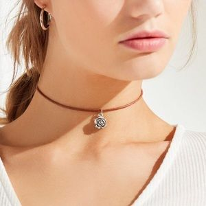 Urban Outfitters Jewelry - UO leather floral choker necklace